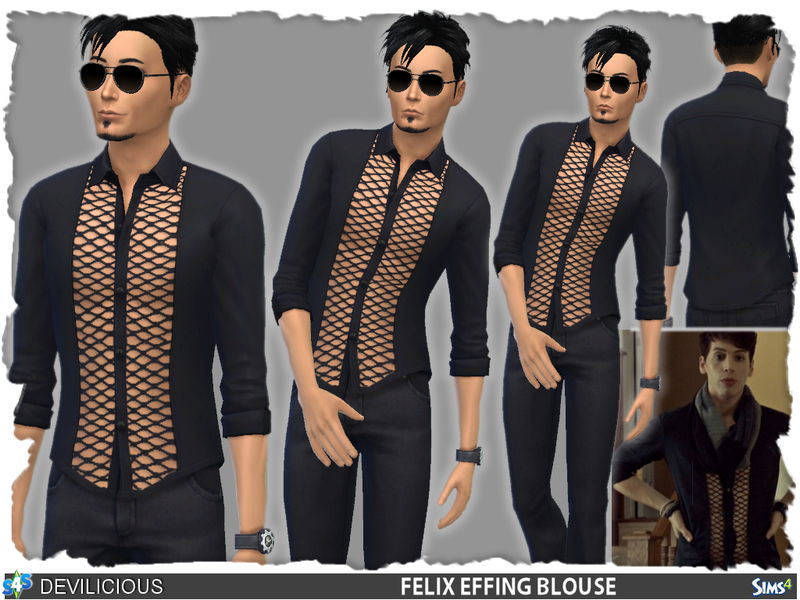 Felix Effing Blouse  BY Devilicious