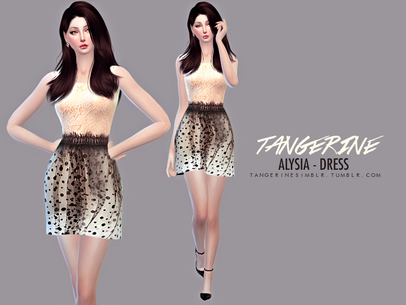 Alysia - Dress BY tangerinesimblr