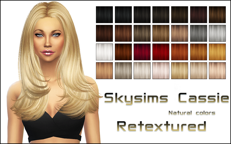 Skysims Cassie hair retexture by NYLSIMS