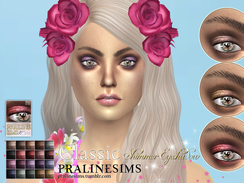 Classic Shimmer Eyeshadow BY Pralinesims