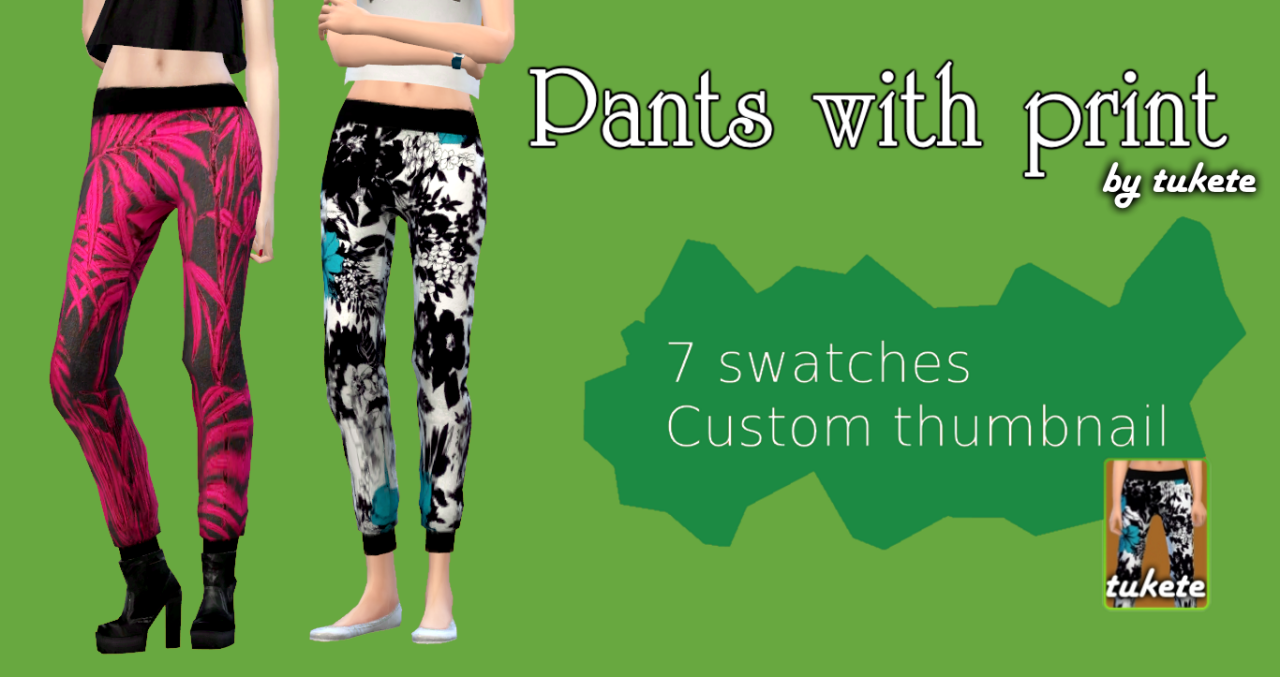 Pants with Print by Tukete