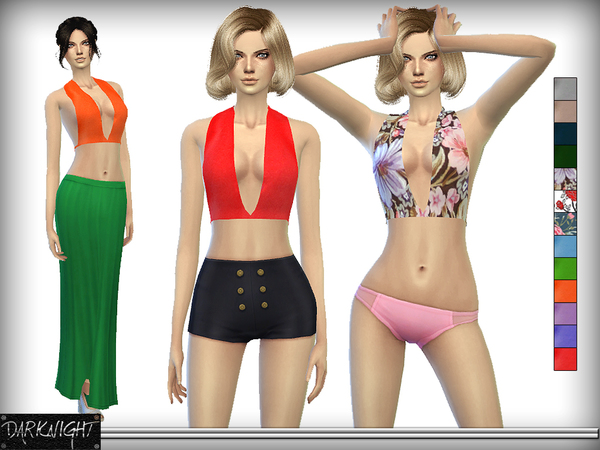 Colorful Open Back Top - 3D Mesh by DarkNighTt