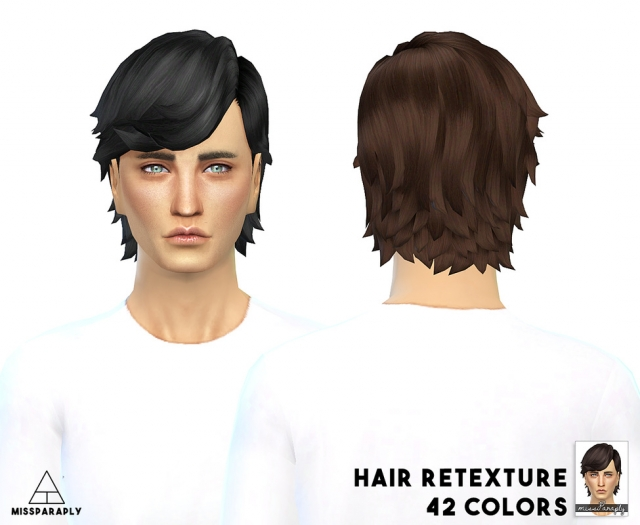 Hair retexture / EA LongEarTucked / 42 colors by MissParaply