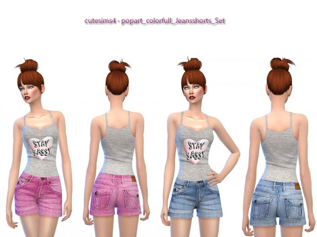 Jeans shorts by sweetsims4