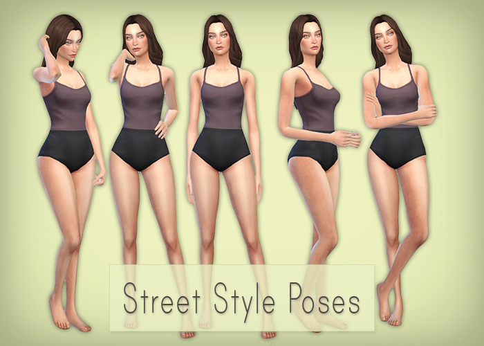 Street Style Poses by Simsrocuted