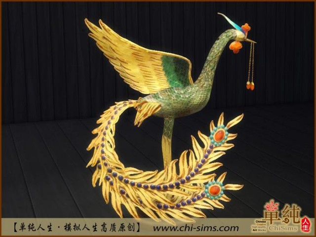 Chinese Phoenix Deco by Moirae