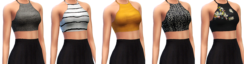 Cropped Halter Tops by MarvinSims