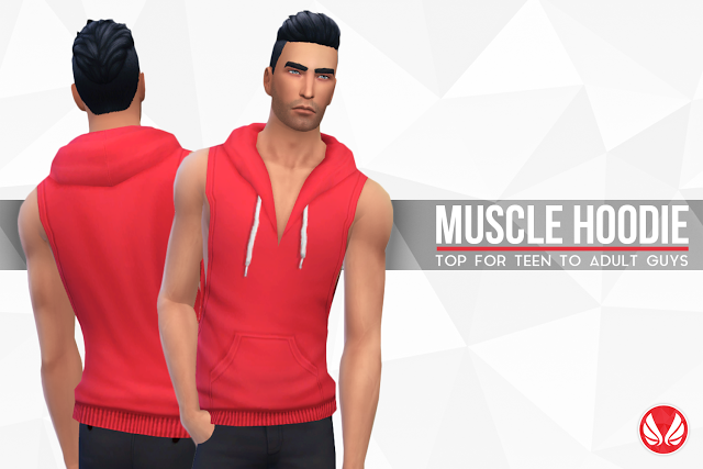 Muscle Hoodie for Teen - Elder Males by Peacemaker ic