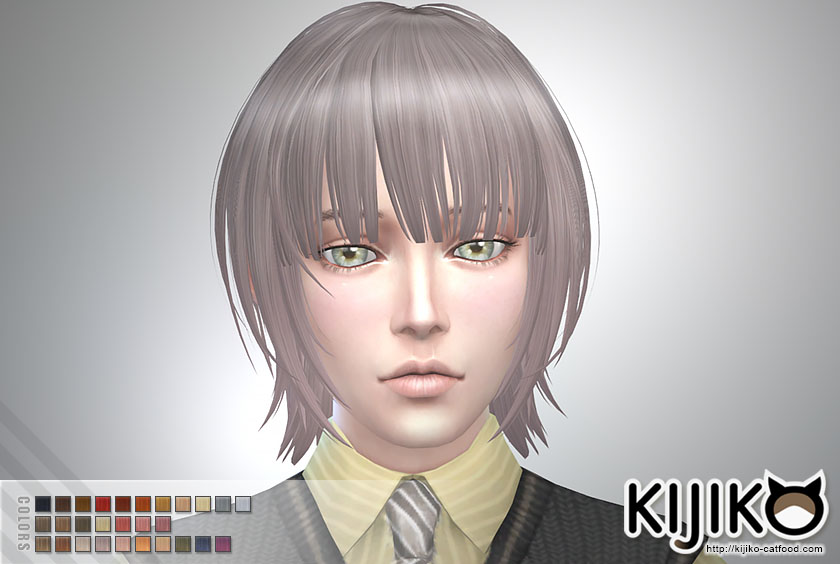 Bob with Straight Bangs (for Male) by Kijiko