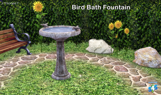Bird Bath Fountain by Sonia