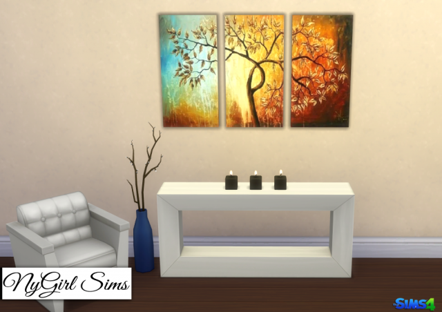 Modern Tree 3 Piece Canvas Art by NyGirl