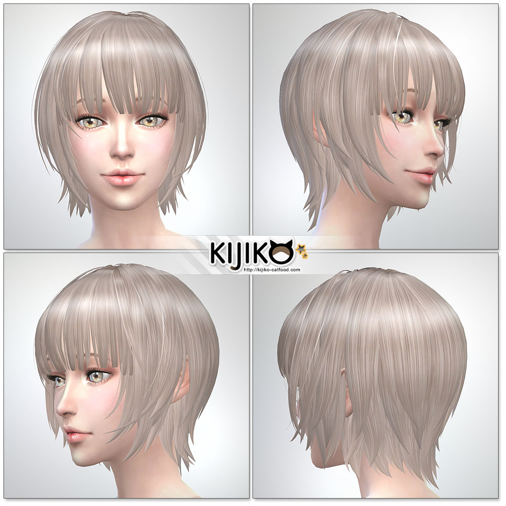 Bob with Straight Bangs (for Female) by Kijiko