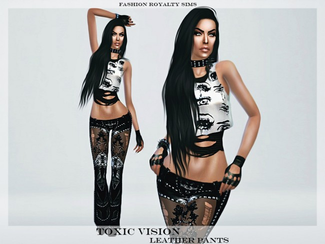 Toxic Vision Leather Pants by fashionroyaltysims