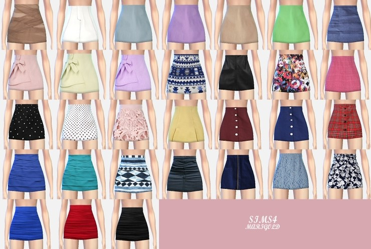 H-line_tight mini-skirts_h by Marigold