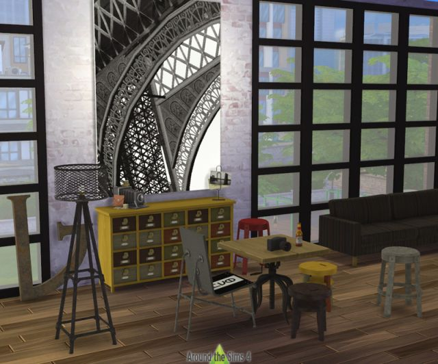 Industrial Dining Room Set by Sandy