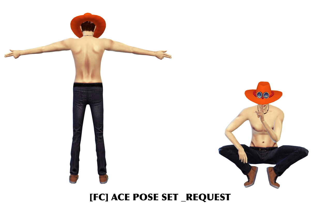 ACE POSE SET / HAT POSE SET by flowerchamber