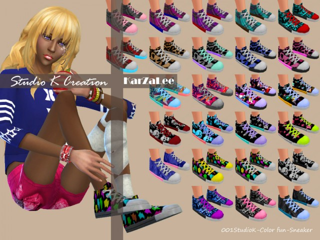 Color-fun Sneaker for Male and Female by Karzalee