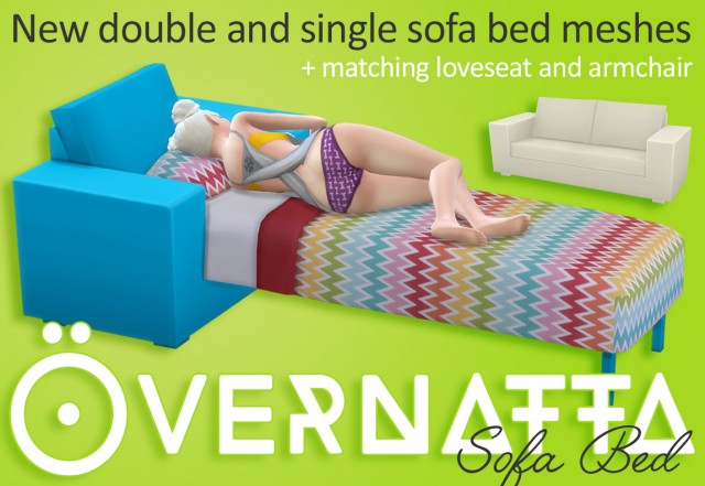 Overnatta Sofa Bed Set by WildlyMiniatureSandwich