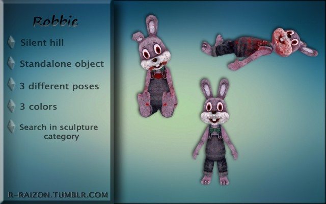 Cute litte rabbit Robbie from Silent hill by Raizon