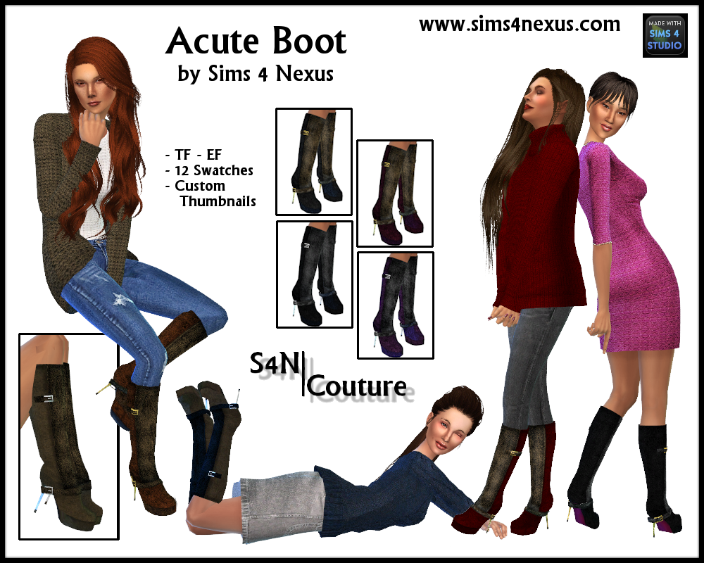 Acute Boot by Sims 4 Nexus
