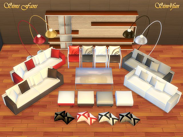 Modern Living Room Furniture by Sim4fun