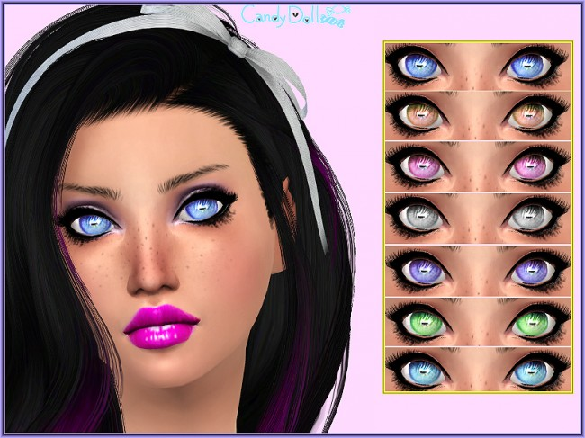 Candy Doll Pastel Eyes by DivaDelic06