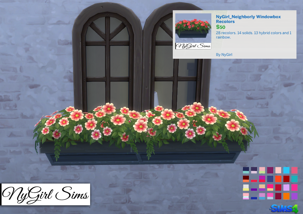Window Box Recolors by NyGirl