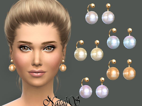 NataliS_Faux pearl earrings