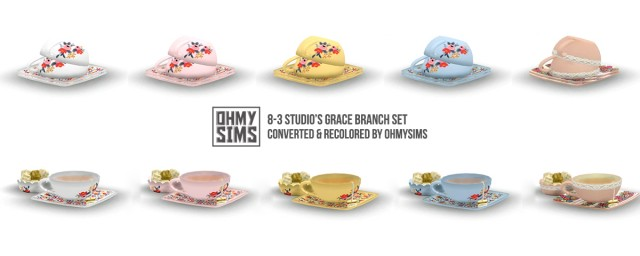 Grace Brunch Set Conversion in Simlish by OhMySims