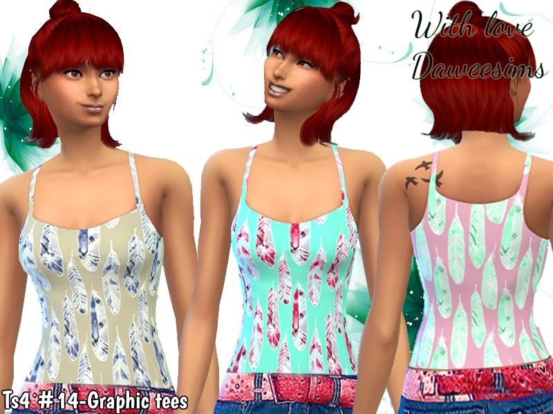 Ts4 #14-Graphic tees by Daweesims