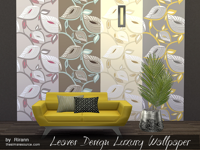 Leaves Design Luxury Wallpaper BY Rirann