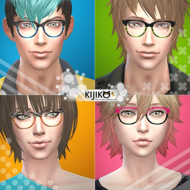 Semi-Square Eyeglasses by Kijiko