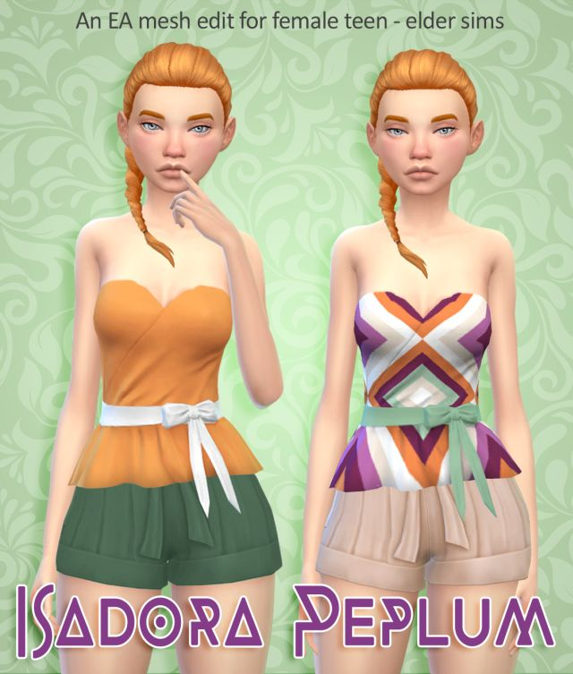 Isadora Peplum Top by WildlyFallenSandwich
