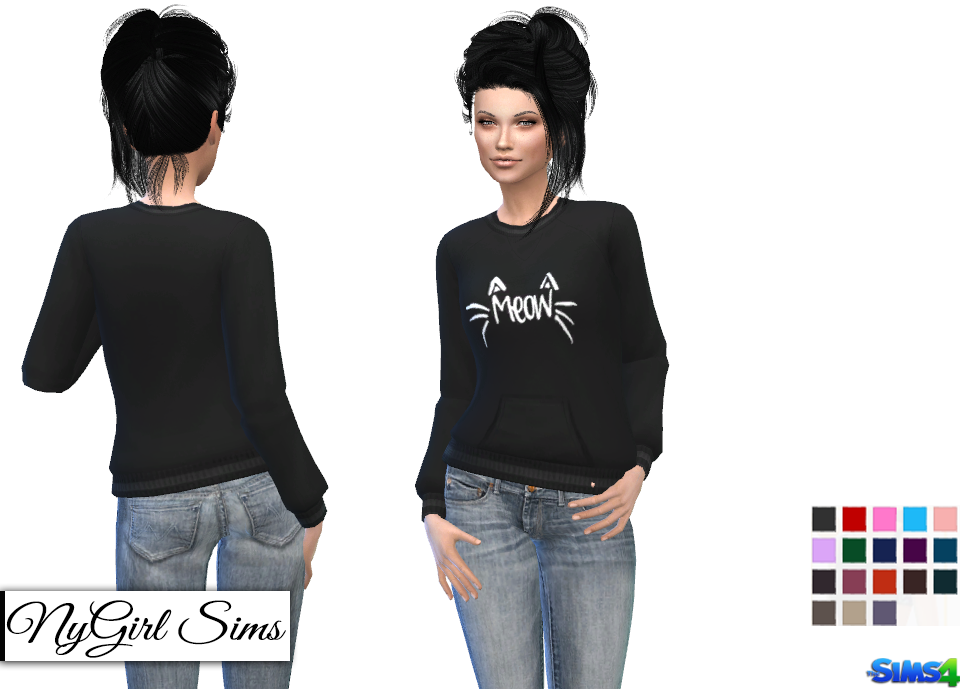 Cat's Meow Sweater by NyGirl