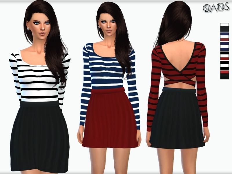 Cross Back Skater Dress BY OranosTR