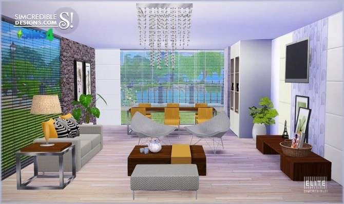 SIMcredible! Designs 4  Furniture, Dining room, Living room : Elite living/diningroom