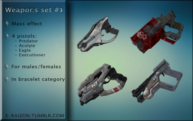 Weapons Set 3 Mass Effect by Raizon