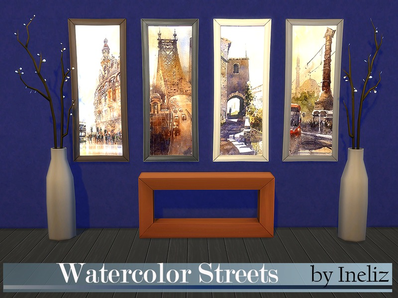 Watercolor Streets BY Ineliz