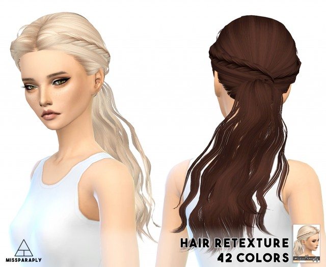 Hair retexture / Skysims Tina / 42 colors by MissParaply
