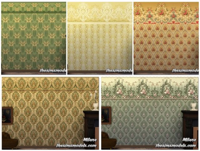 Antique Wallpaper by Milana