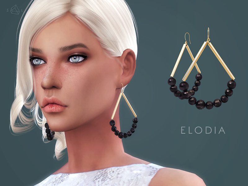 Gold-plated horn earrings ELODIA  BY starlord