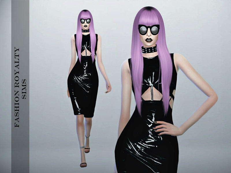 Chromat Latex Dress BY FashionRoyaltySims