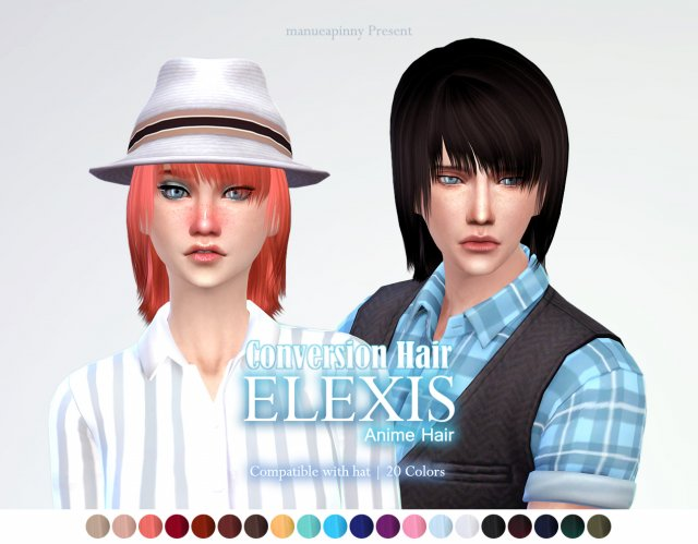Anime hair Elexis 6th Conversion hair от ManueaPinny