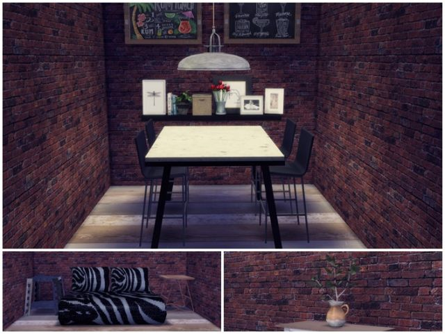 TS3 Dining, Sofa and Clutter Conversion by RachelsSimsStuff