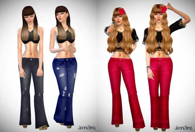 Bell Bottom Jeans for Females by JenniSims