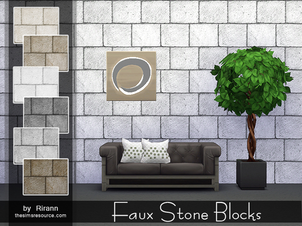 Faux Stone Blocks by Rirann
