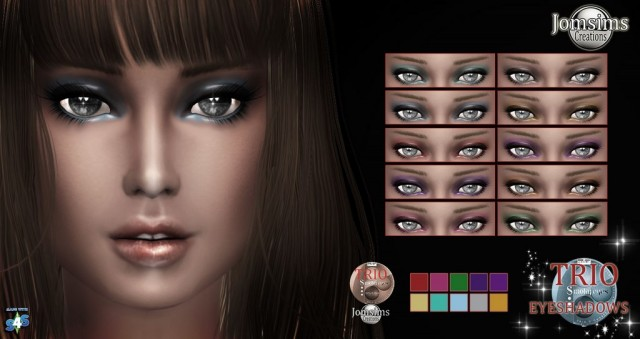 Ttrio eyeshadows by Jomsims