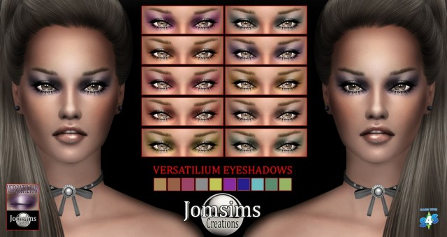 Versatilium eyeshadows by Jomsims