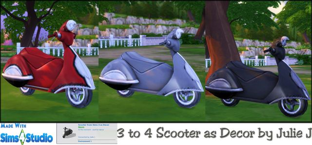 TS3 Decorative Scooter by JulieJ