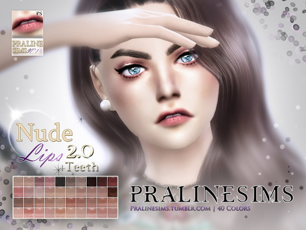 Nude Lips 2.0 Duo (+Teeth) by Pralinesims